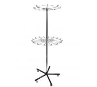Стойка двухъярусная под ремни, зонты, аксессуары. С замком (Артикул: ST018)