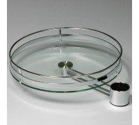 Полка стеклянная  d=430мм с кронштейном для барной стойки (Артикул: PTJ016-25)