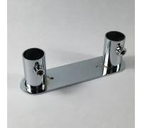 Консоль крепления двух труб d=25мм к плоскости. (Артикул: TRX014)