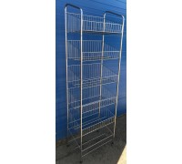 Стойка торговая с сетчатыми корзинами 400х600мм универсальная (Артикул: STU001)