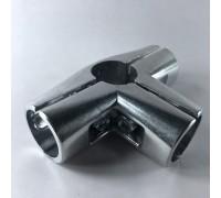Крепёж-соединитель четырёх труб d=32 мм, угловой. (Артикул: Uno-7.32)