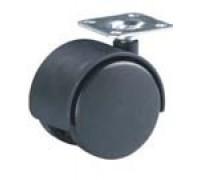 Колесо мебельное поворотное D=50мм ЧЕРНЫЙ ПЛАСТИК (Арт.6005050)