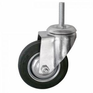 Колесо промышленное ПОВОРОТНОЕ Резьба:М12 D=100мм (Арт.4008100)
