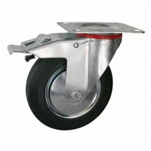 Колесо промышленное ПОВОРОТНОЕ с тормозом D=125мм (Арт.4003125)
