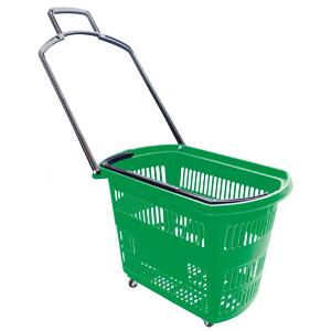 Корзина пластиковая на колесах (Арт.PLB.010/Зл)