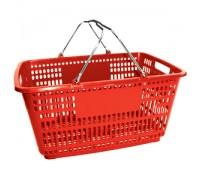 Корзина покупательская с пластиком на ручках (Арт.PL.210.Кр)