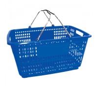 Корзина покупательская с пластиком на ручках (Арт.PL.210.Сн)