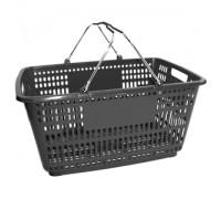 Корзина покупательская с пластиком на ручках (Арт.PL.210.Ср)