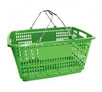 Корзина покупательская с пластиком на ручках (Арт.PL.210.Зл)