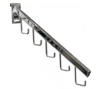 Кронштейн с крючками наклонный 400мм (Арт.FG112)