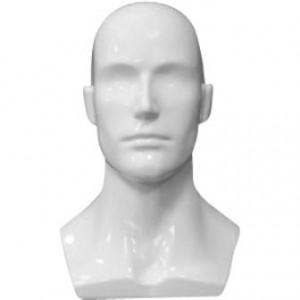 Манекен «Голова» мужская Цвет:Белый (Арт.SH-123)