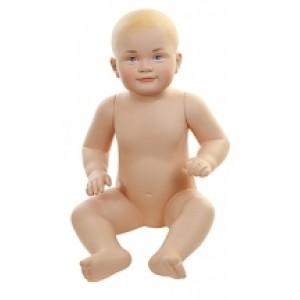 Манекен детский 6-12 месяцев с макияжем (Арт.BABY02)
