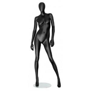 Манекен женский Черный МАТОВЫЙ (Арт.Storm02F.02M)
