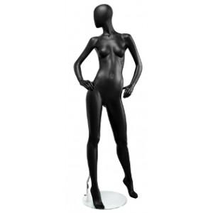 Манекен женский Черный МАТОВЫЙ (Арт.Storm03F.02M)