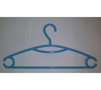 Вешалка для одежды пластиковая Голубая L=395мм (Арт.P218)