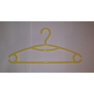 Вешалка для одежды пластиковая Желтая L=395мм (Арт.P217)