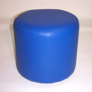 Пуфик круглый Диаметр:400мм Цвет: СИНИЙ