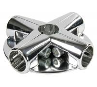 Крепёж для пяти труб с тремя полками. (Артикул: Uno-13.)