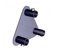 Консоль крепления трех труб d=25мм к плоскости. (Артикул: TRX016)