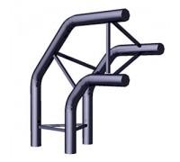 Угол 3-х труб вертикальный (Арт.TRX06)