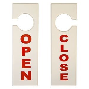 Табличка OPEN/CLOSE белая