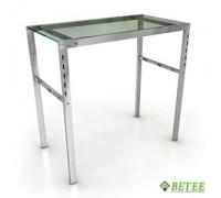 Стол 930*500*900 мм Полка: Стекло ПРОЗРАЧНОЕ (Арт.GLT 003)