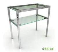 Стол 930*500*900 мм Полки: Стекло МАТОВОЕ (Арт.GLT 004/2)