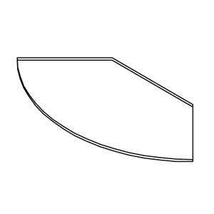 Полка для круглой стойки (Арт.NES.0005.002.GL)