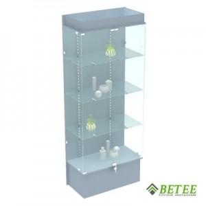 Витрина стеклянная с подсветкой 200х80х40см (Арт.S802)