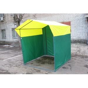 Палатка для торговли Ширина: 2м Глубина: 2м Тент: Желто-Зеленый