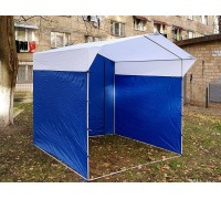 Палатка Торговая Ширина: 2,5м Глубина: 2м Тент: Сине-Белый