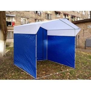 Палатка Торговая Ширина: 3м Глубина: 2м Тент: Сине-Белый