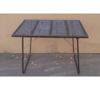 Стол раскладной (металл) 2000*650 мм (СТМ4)