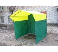 Палатка для торговли Ширина: 2,5м Глубина: 2м Тент: Желто-Зеленый
